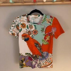 ETRO - Parrot- Print Crewneck T-Shirt